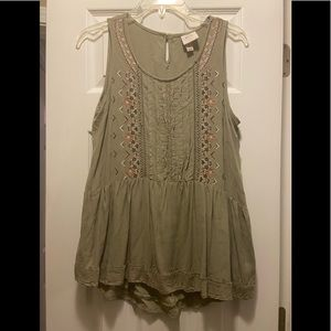 Olive Green Knox Rose size M